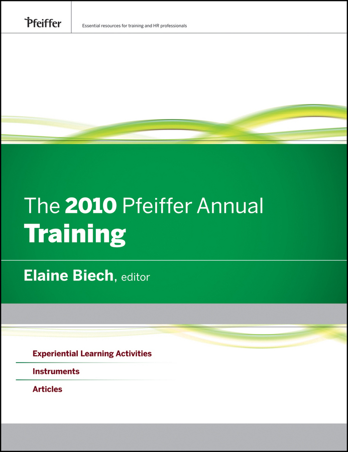 The 2010 Pfeiffer Annual. Training