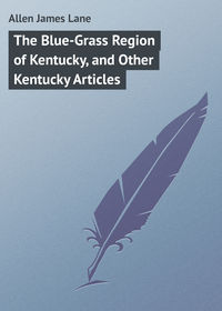 Обложка «The Blue-Grass Region of Kentucky, and Other Kentucky Articles»