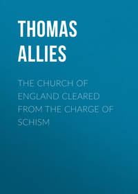 Обложка «The Church of England cleared from the charge of Schism»