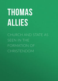 Обложка «Church and State as Seen in the Formation of Christendom»