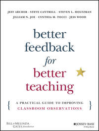 Обложка «Better Feedback for Better Teaching. A Practical Guide to Improving Classroom Observations»