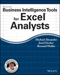 Обложка «Microsoft Business Intelligence Tools for Excel Analysts»