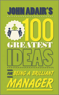 Обложка «John Adair's 100 Greatest Ideas for Being a Brilliant Manager»
