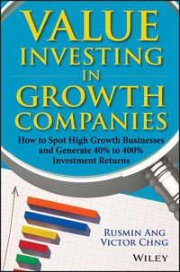 Обложка «Value Investing in Growth Companies. How to Spot High Growth Businesses and Generate 40% to 400% Investment Returns»