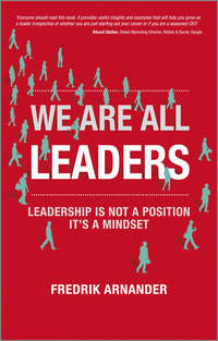 Обложка «We Are All Leaders. Leadership is Not a Position, It's a Mindset»