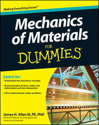 Обложка «Mechanics of Materials For Dummies»