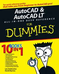 Обложка «AutoCAD and AutoCAD LT All-in-One Desk Reference For Dummies»