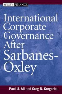 Обложка «International Corporate Governance After Sarbanes-Oxley»