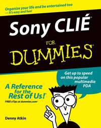 Обложка «Sony CLIÉ For Dummies»