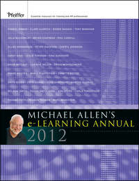 Обложка «Michael Allen's 2012 e-Learning Annual»