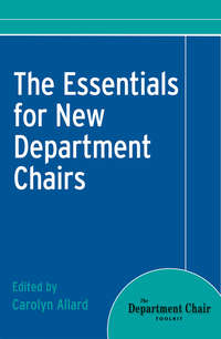 Обложка «The Essentials for New Department Chairs»