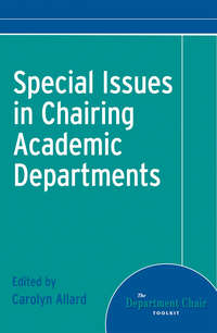 Обложка «Special Issues in Chairing Academic Departments»