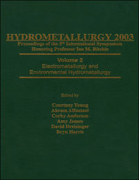 Обложка «Hydrometallurgy 2003 - Fifth International Conference in Honor of Professor Ian Ritchie, Volume 1. Leaching and Solution Purification»