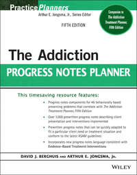 Обложка «The Addiction Progress Notes Planner»