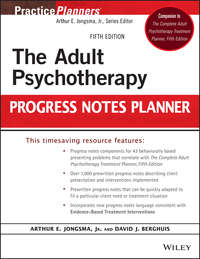 Обложка «The Adult Psychotherapy Progress Notes Planner»