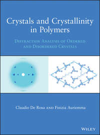 Обложка «Crystals and Crystallinity in Polymers. Diffraction Analysis of Ordered and Disordered Crystals»