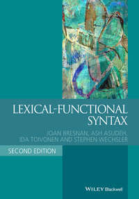 Обложка «Lexical-Functional Syntax»