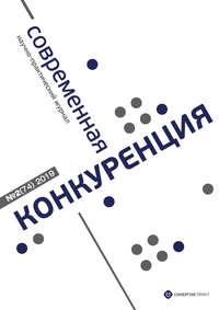 Обложка «Современная конкуренция №2 (74) 2019»