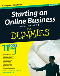 Обложка «Starting an Online Business All-in-One Desk Reference For Dummies»