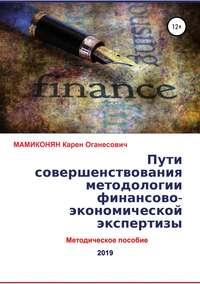 Обложка «Пути совершенствования методологии финансово-экономической экспертизы. Методическое пособие»