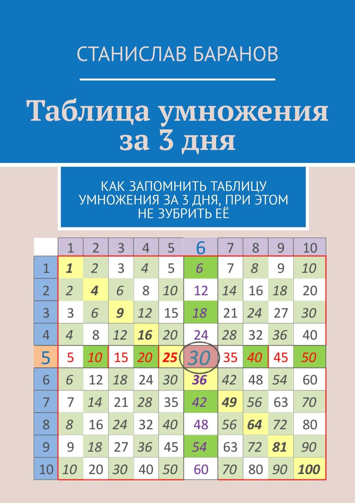 Станислав Баранов Таблица умножения за3дня. Как запомнить таблицу умножения за3 дня, при этом незубритьеё теоретические основы и методика воспитания младших школьников
