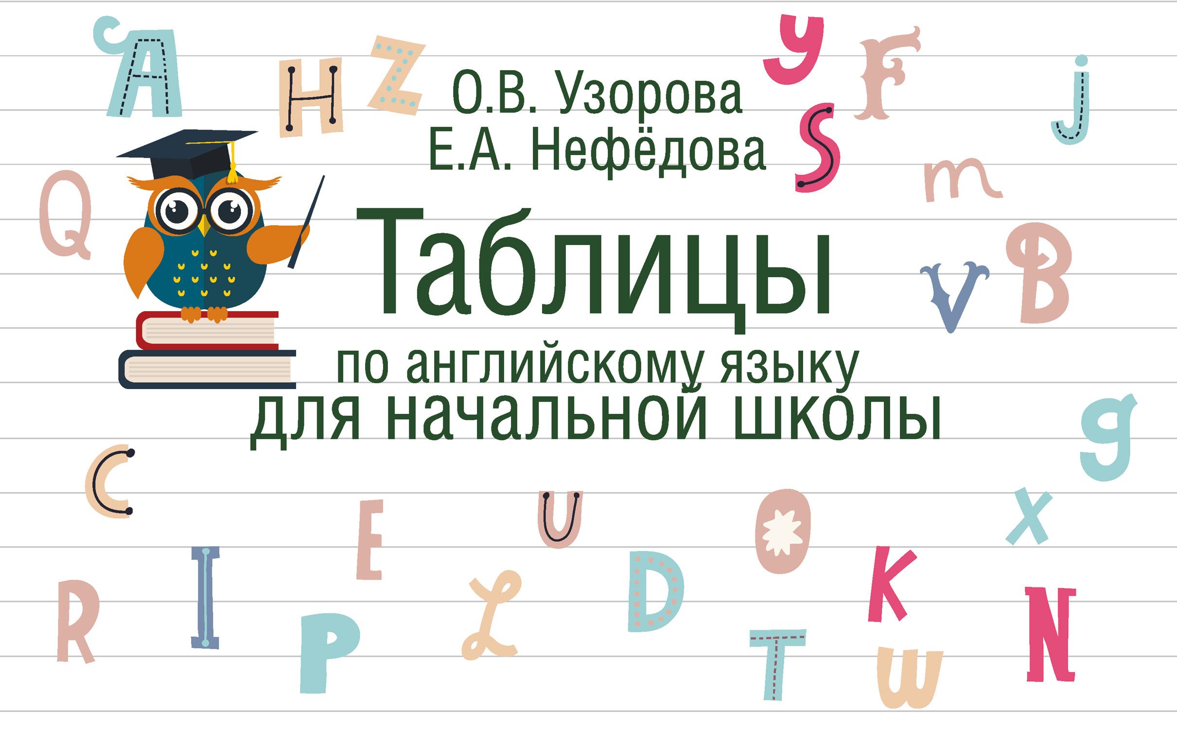 О. В. Узорова Таблицы по английскому языку для начальной школы узорова о нефедова е таблицы по английскому языку для начальной школы