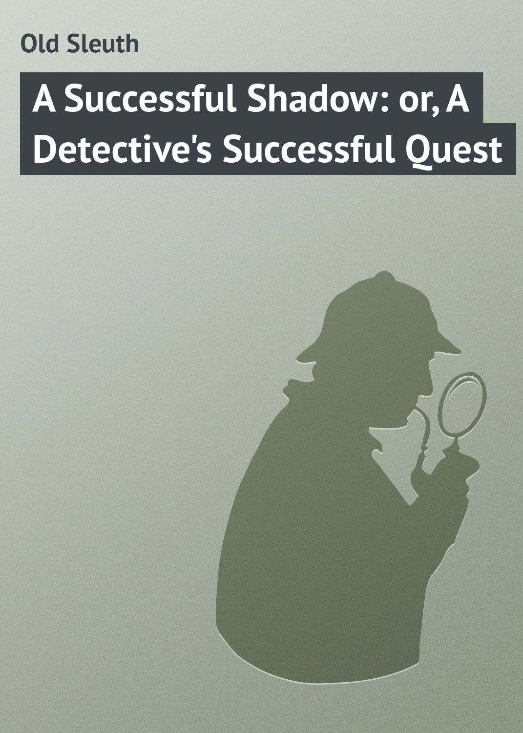 Old Sleuth A Successful Shadow: or, A Detective's Successful Quest