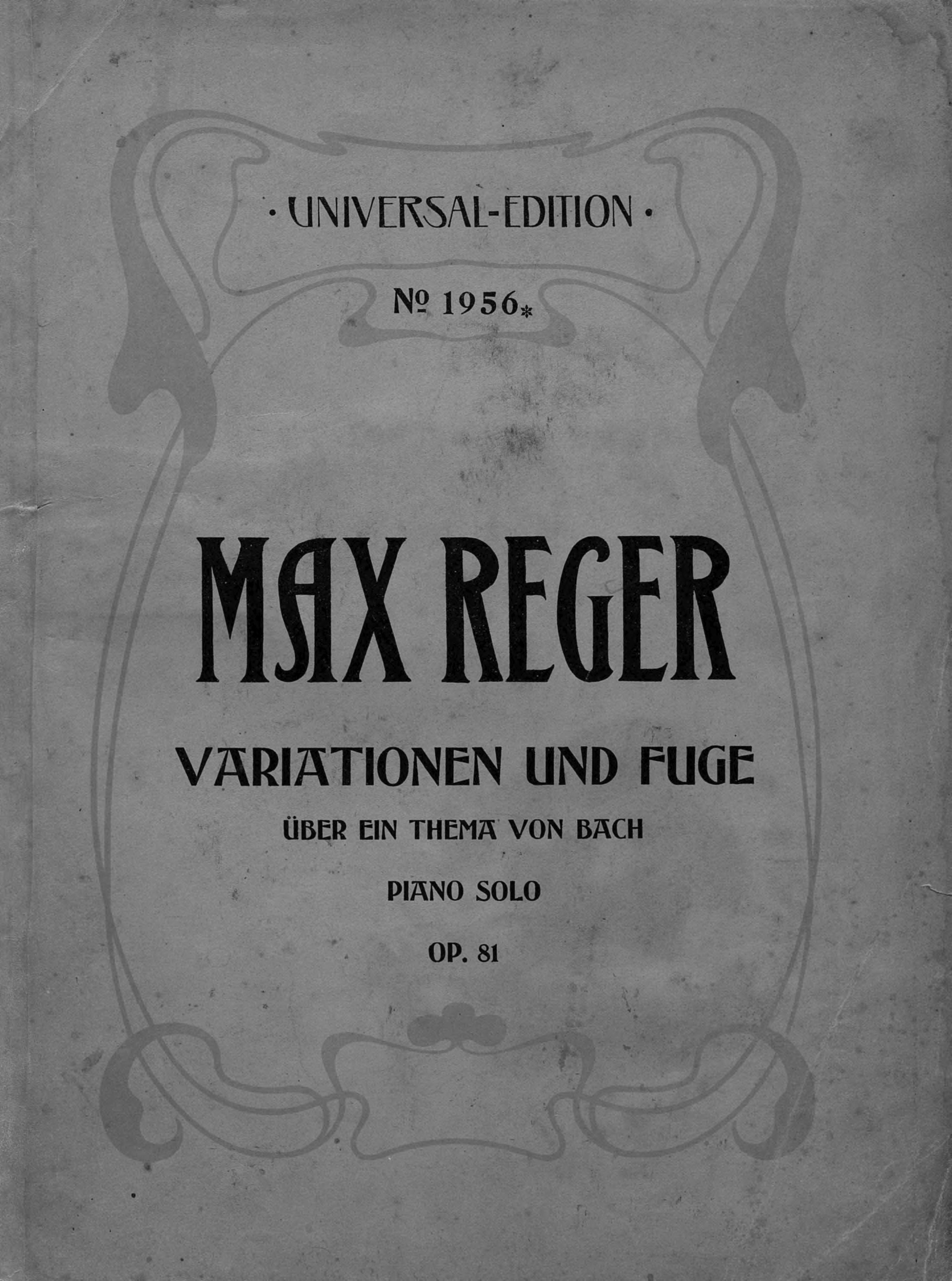 Макс Регер Variationen und Fuge uber ein Thema von Joh. Seb. Bach fur Klavier zu 2 Hd.