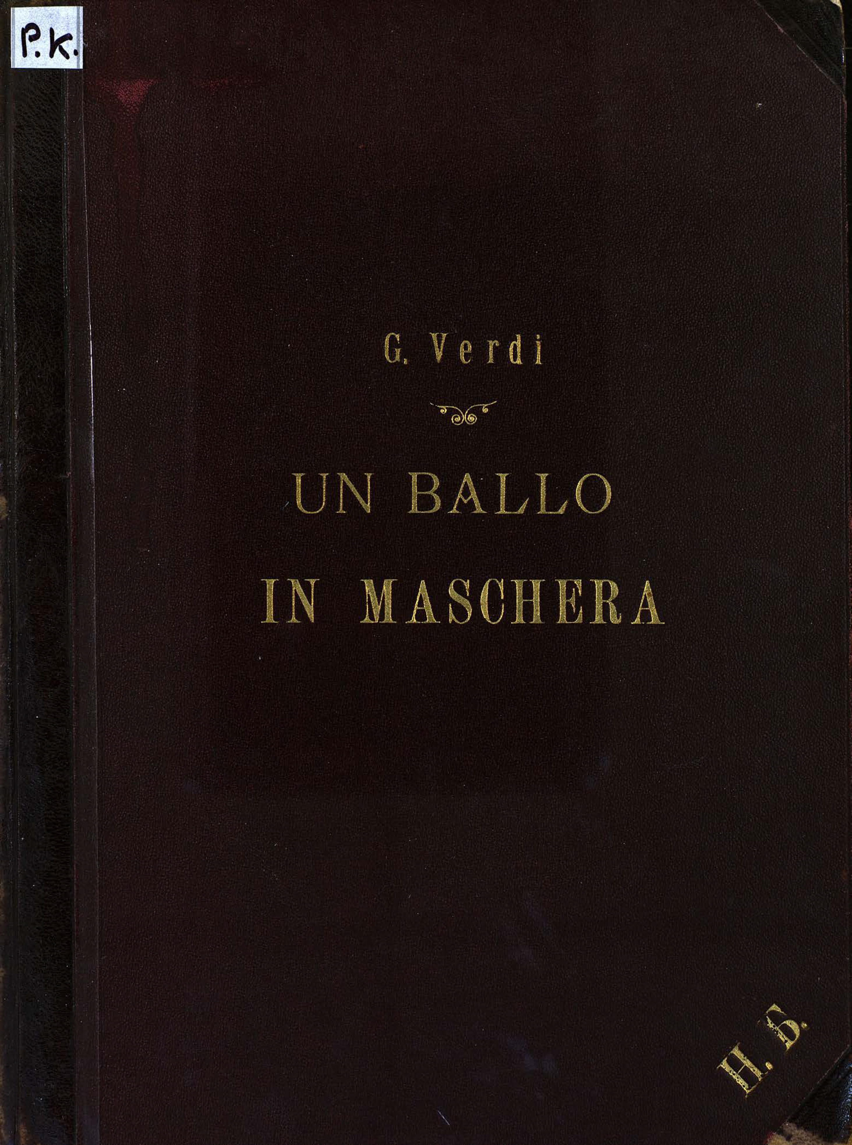 Джузеппе Верди Un Ballo in Maschera h von bülow rimembranze dell opera un ballo in maschera op 17
