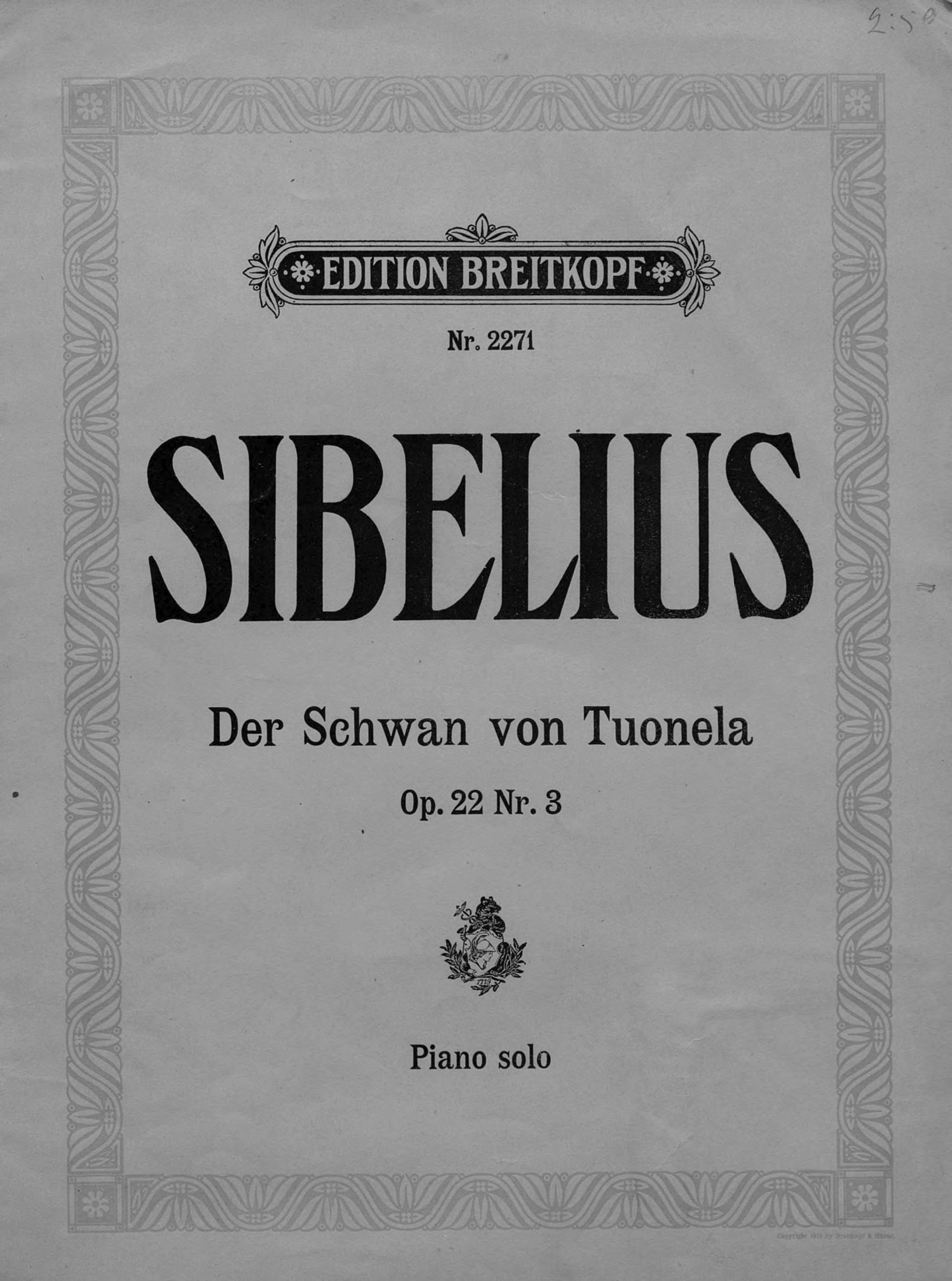 Ян Сибелиус Der Schwan von Tuonela tuonelan joutsen