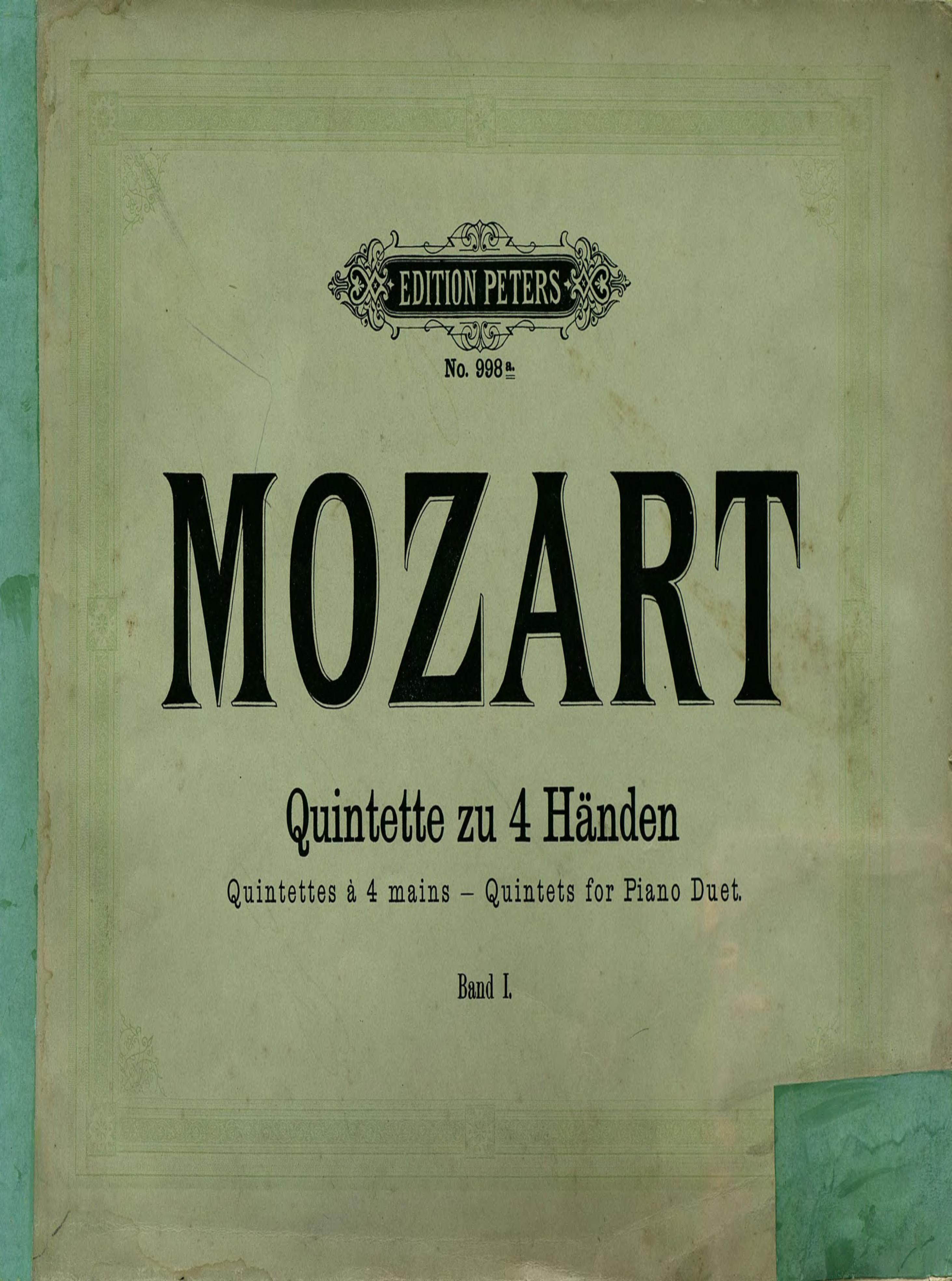 Вольфганг Амадей Моцарт Quintette вольфганг амадей моцарт titus