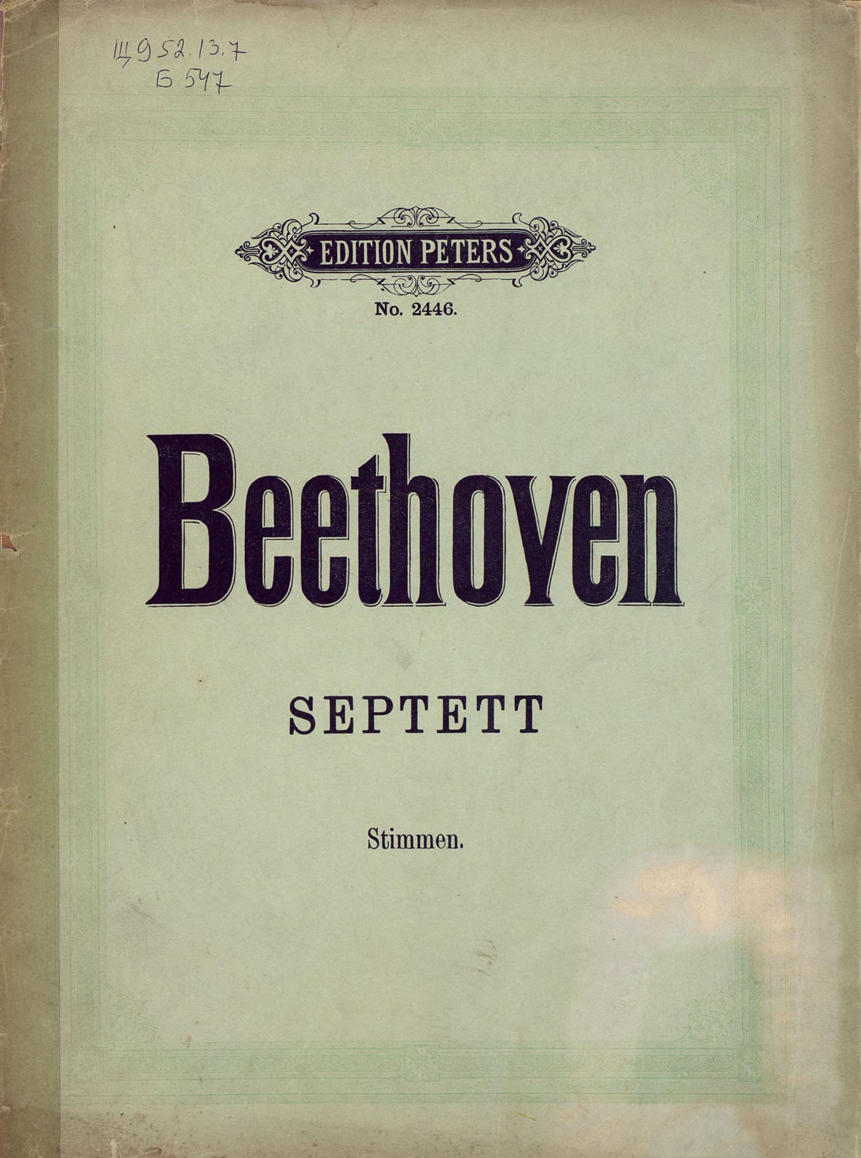 цены Людвиг ван Бетховен Septett v. L. van Beethoven