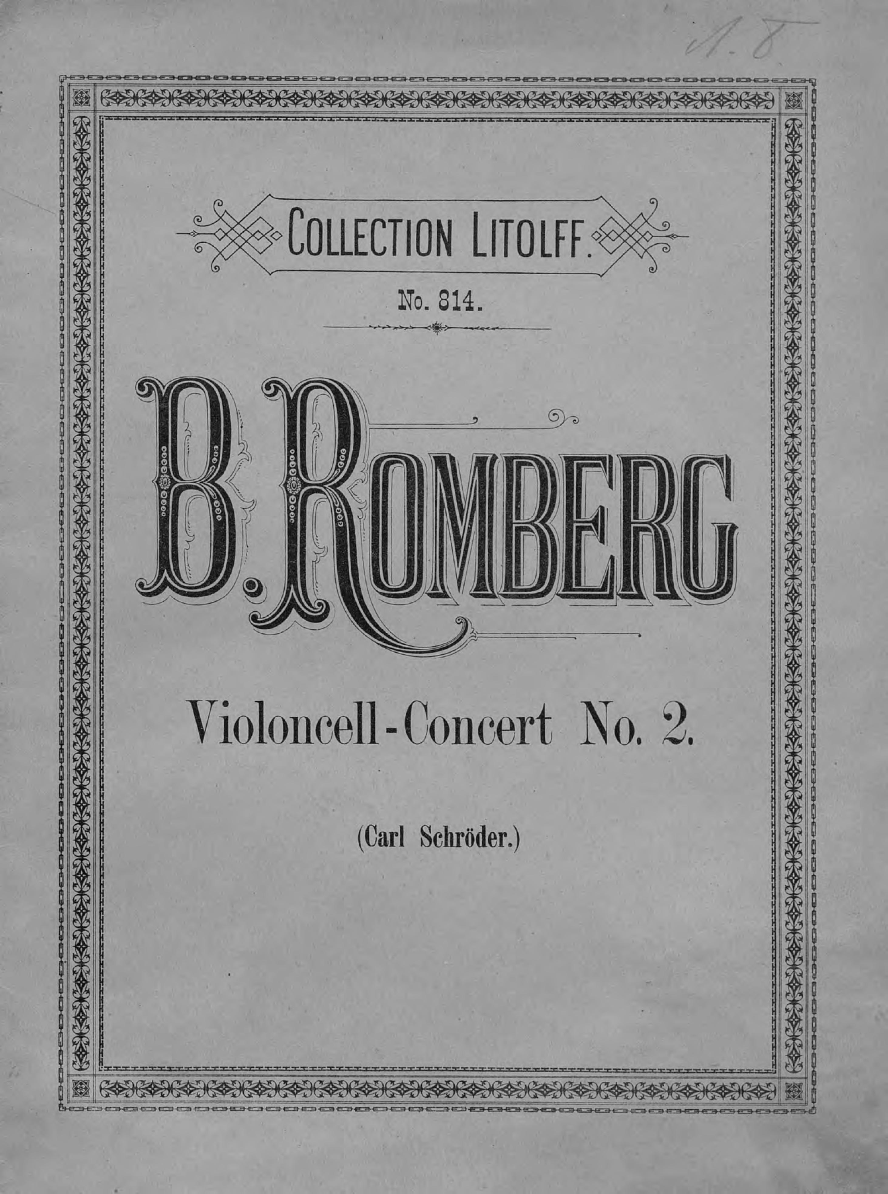 Бернхард Генрих Ромберг Concert № 2 fur Violoncell mit Pianoforte-Begleitung von B. Romberg все цены