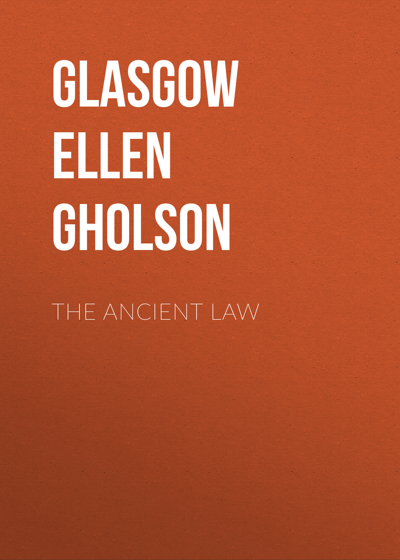 Glasgow Ellen Anderson Gholson The Ancient Law boyzone glasgow