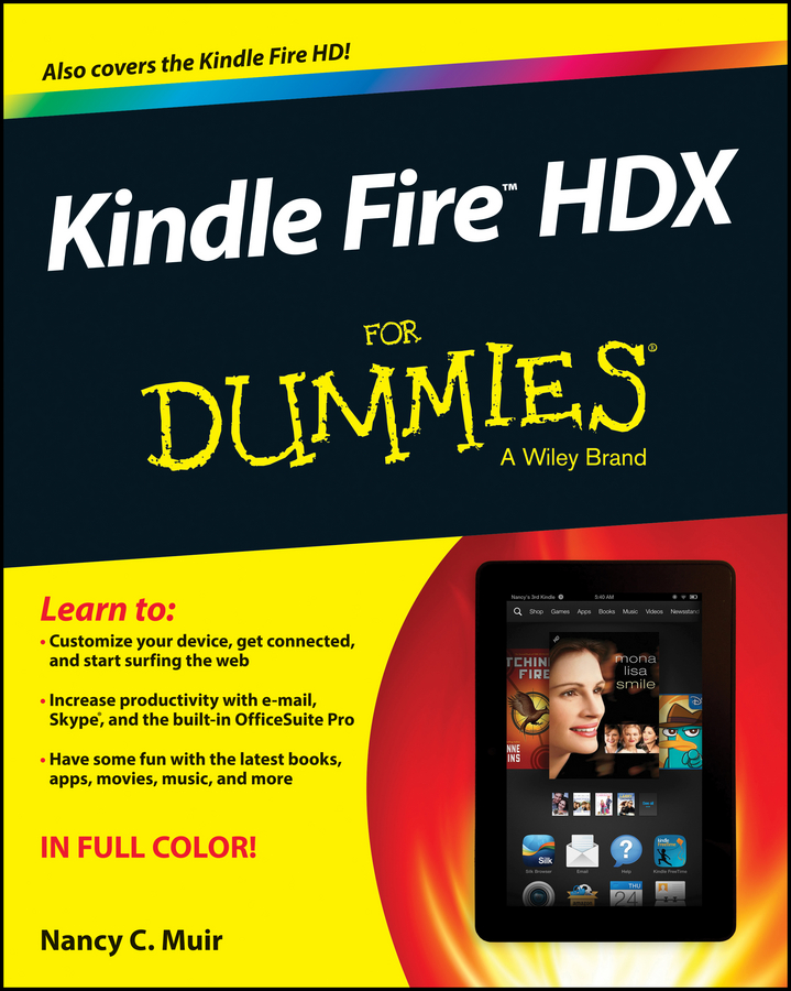 Nancy Muir C. Kindle Fire HDX For Dummies original 6 ed060scn lf t1 lcd screen for amazon amazon kindle 5 e book reader lcd display