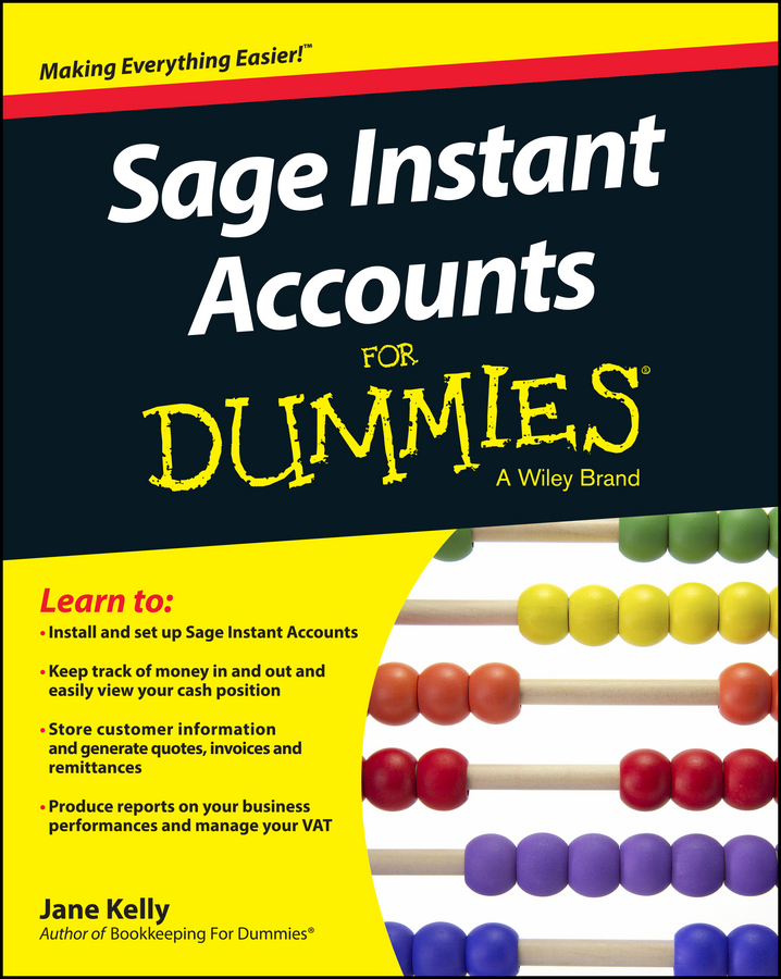Jane Kelly E. Sage Instant Accounts For Dummies jane kelly sage 50 accounts for dummies