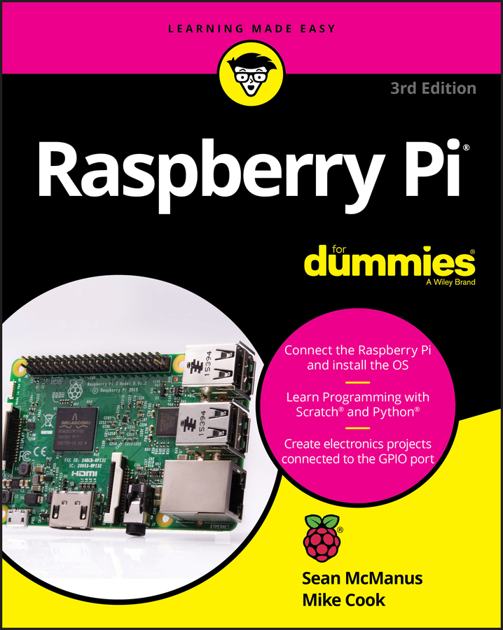 Sean McManus Raspberry Pi For Dummies 2016 raspberry pie 3 generation b raspberry pi model 3 b board on wifi and bluetooth spot