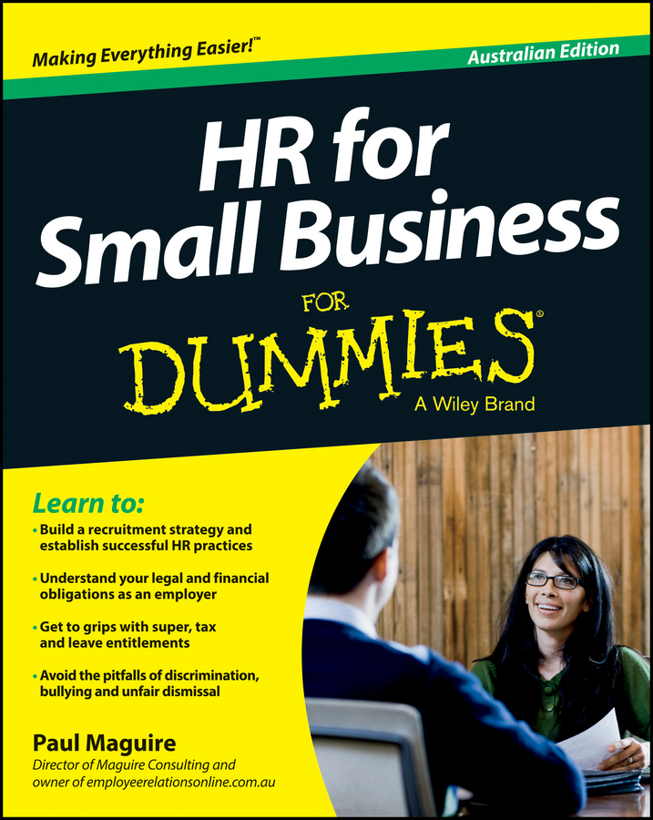 Paul Maguire HR For Small Business For Dummies - Australia faith glasgow small business finance all in one for dummies