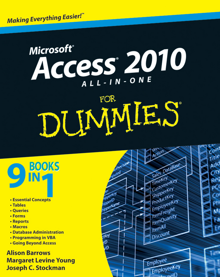 Alison Barrows Access 2010 All-in-One For Dummies michael groh r access 2010 bible