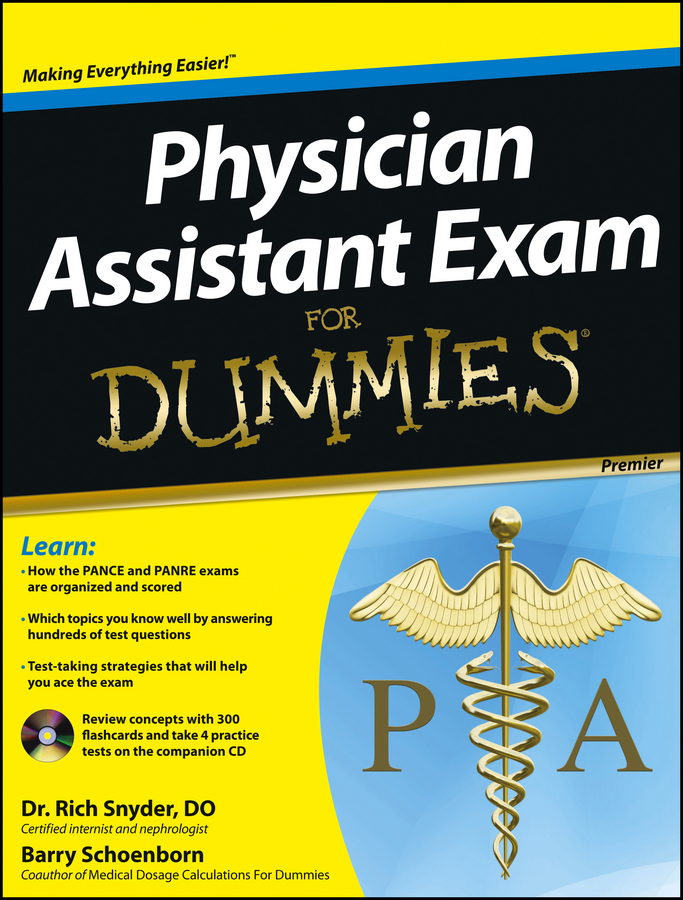 Фото - Barry Schoenborn Physician Assistant Exam For Dummies gre for dummies with online practice tests