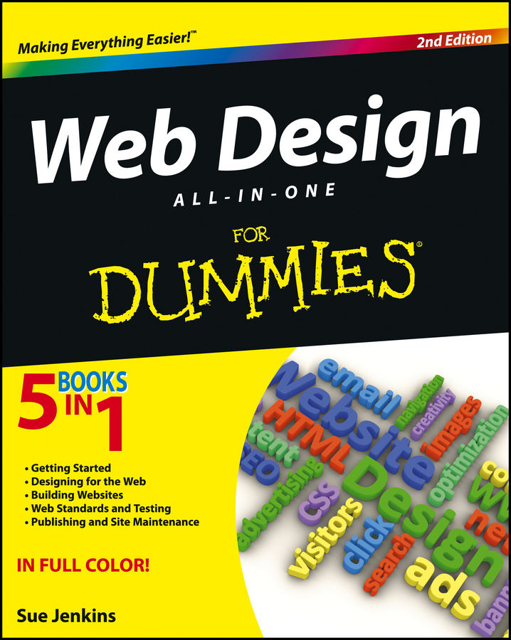 Sue Jenkins Web Design All-in-One For Dummies sue jenkins web design all in one for dummies