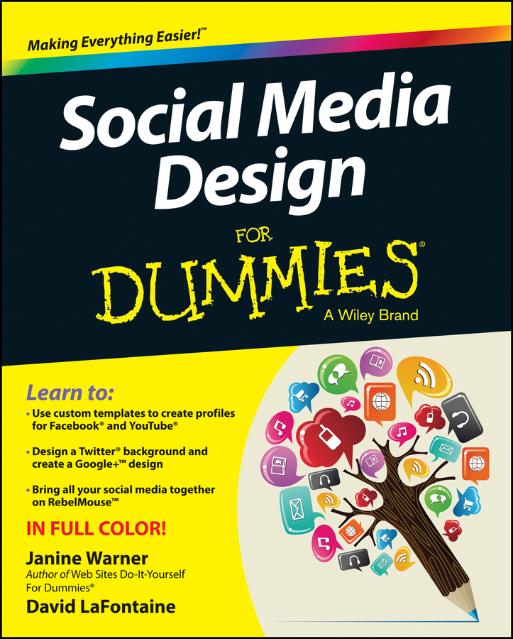 Janine Warner Social Media Design For Dummies donna serdula linkedin profile optimization for dummies