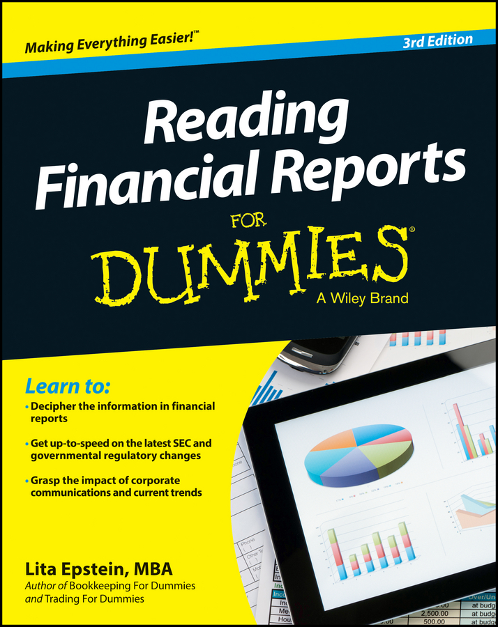 Lita Epstein Reading Financial Reports For Dummies brian underdahl access forms and reports for dummies