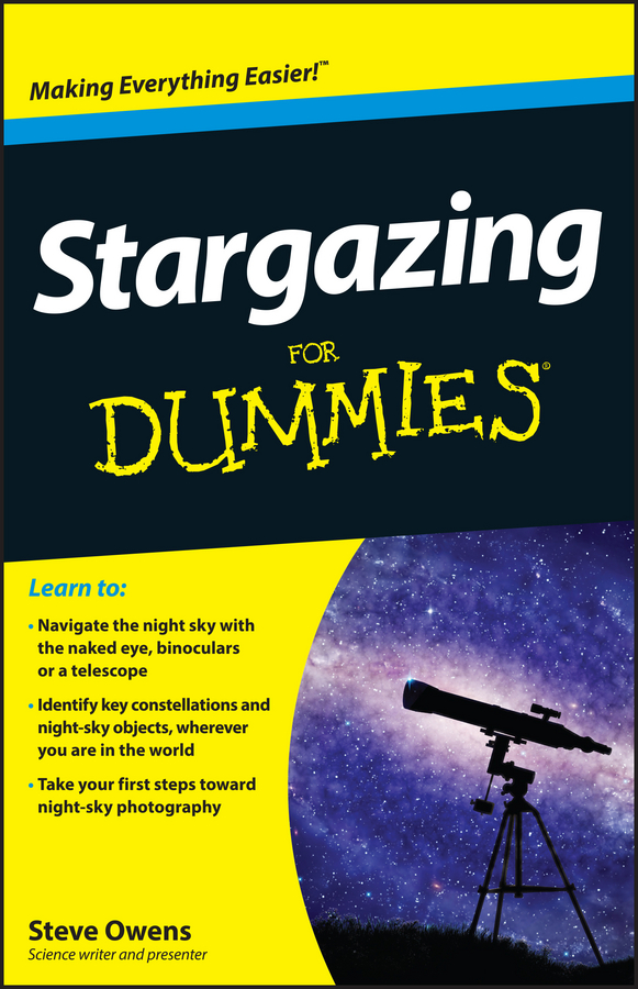 Steve Owens Stargazing For Dummies nature guide stars and planets