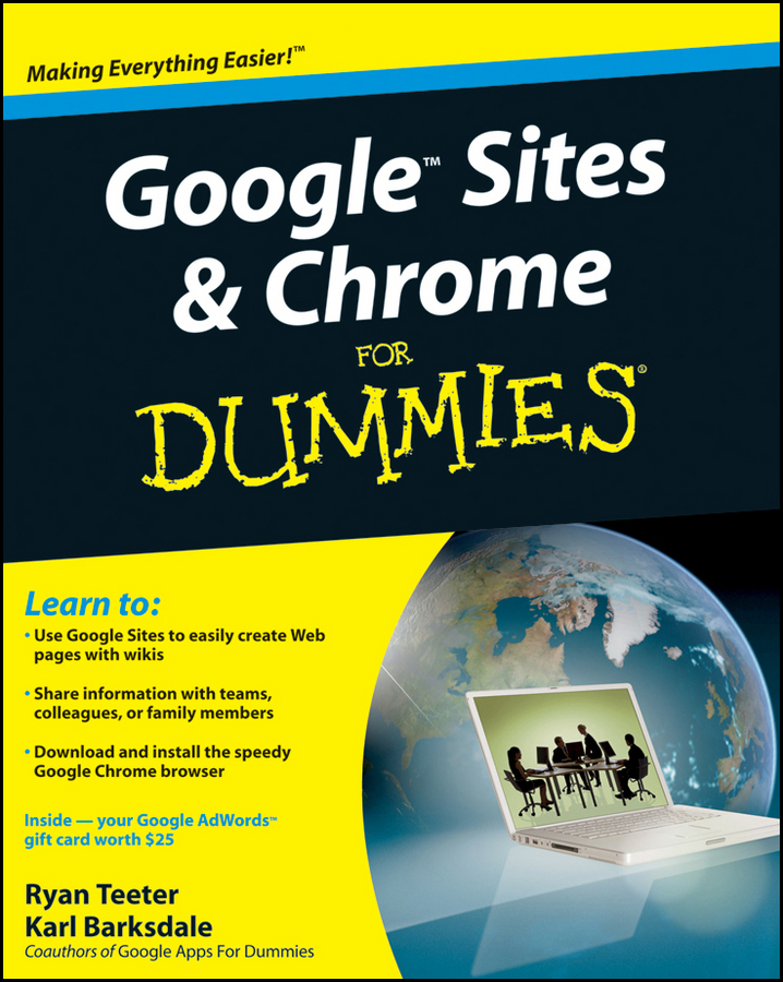 Ryan Teeter Google Sites and Chrome For Dummies jesse stay google marketing for dummies