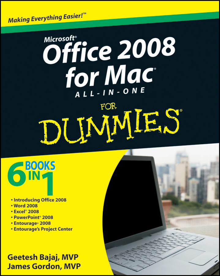 Geetesh Bajaj Office 2008 for Mac All-in-One For Dummies john arnold web marketing all in one for dummies