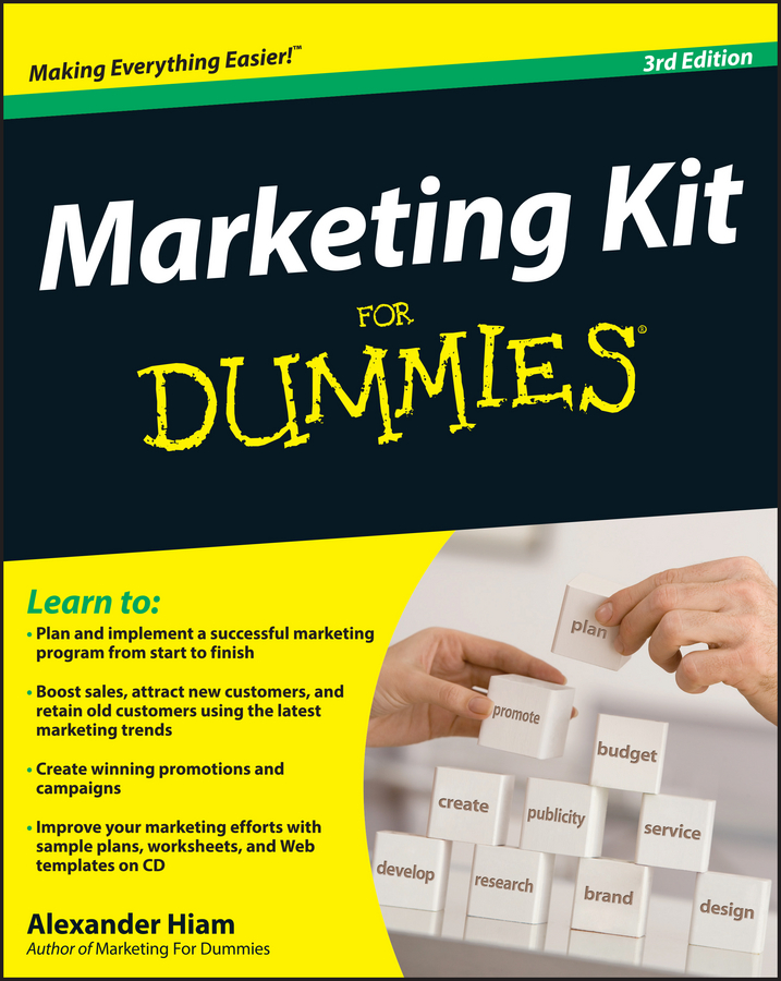 Alexander Hiam Marketing Kit for Dummies jesse stay google marketing for dummies