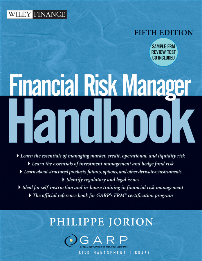 Philippe Jorion Financial Risk Manager Handbook training needs assessment of principals in financial management
