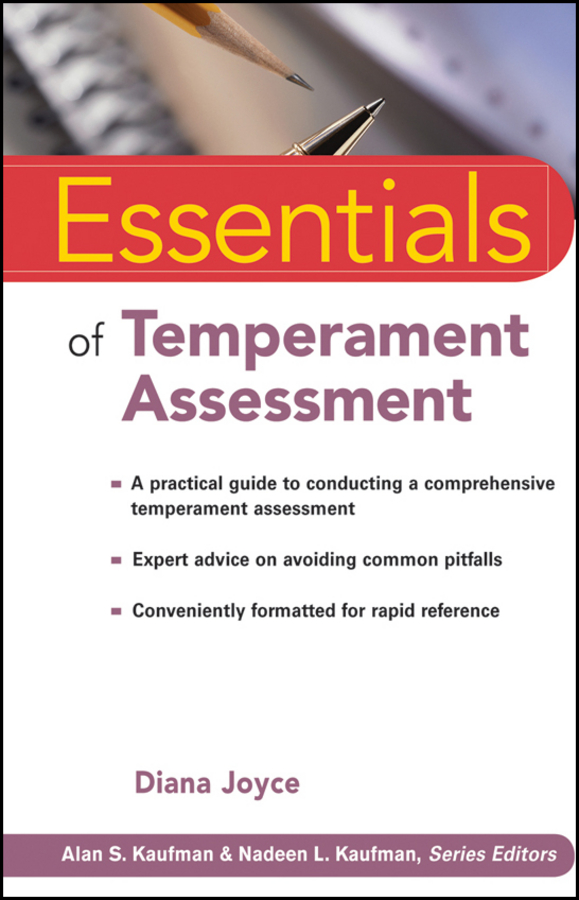 Diana Joyce Essentials of Temperament Assessment blaise amendolace essentials of mcmi iv assessment