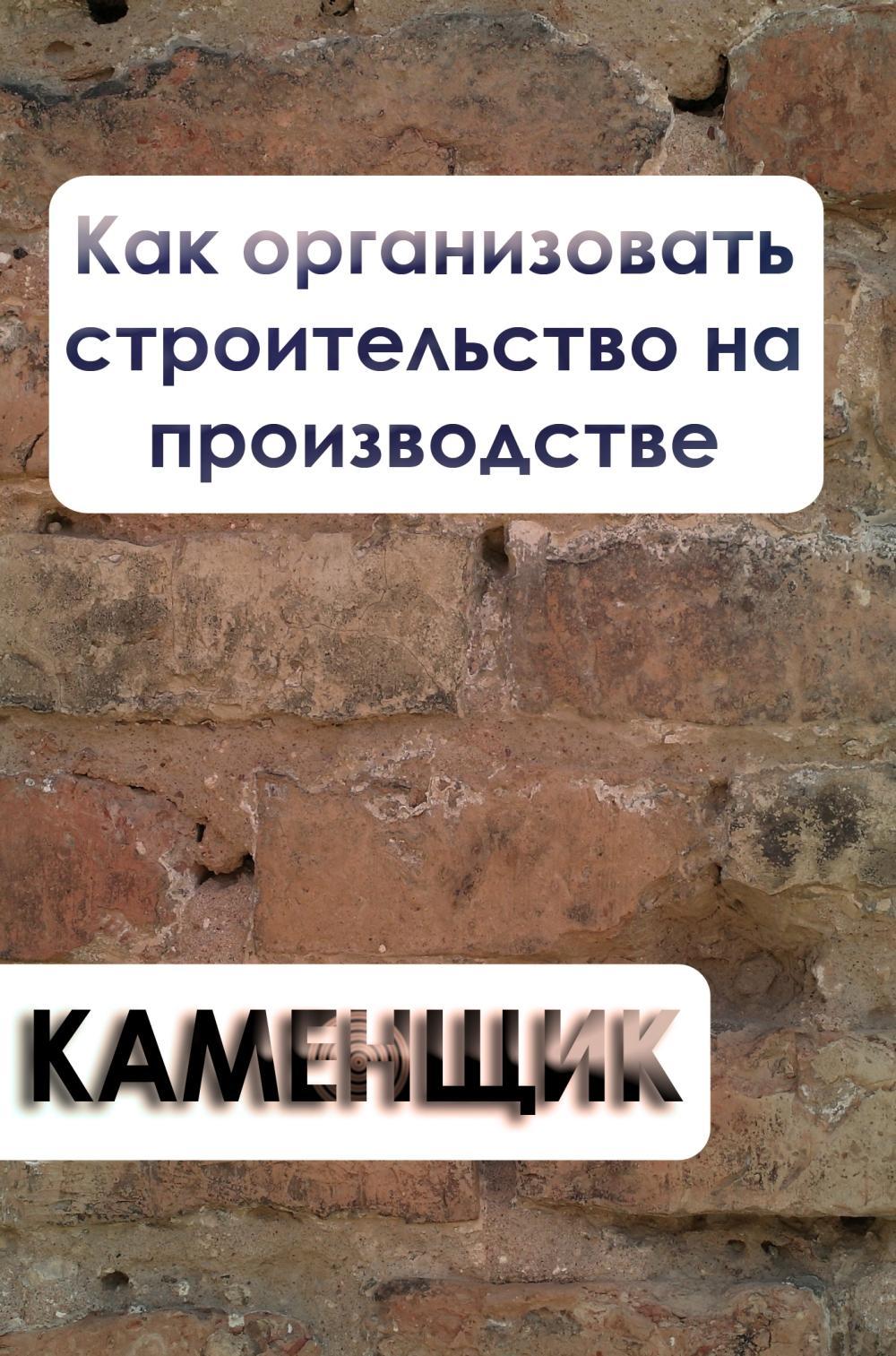 Илья Мельников Как организовать строительство на производстве и окунева о резервах повышения производительности труда
